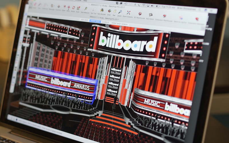 Billboard Music awards concept model shown on a laptop screen